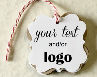 Gift Tag Product Tag Personalized with Your Text Custom Printed Tag Logo or Image T08CT Custom Tag for Gift or Product Logo Tag.