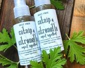 Catnip, lemon balm and citronella natural insect repellent, DEET free, effective, farm grown ingredients, vegan