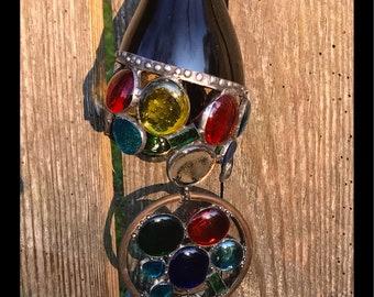 Pebbles and bottles suncatcher