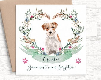 Personalised Handmade Dog With Sympathy Card Loss Bereavement Condolence Puppy