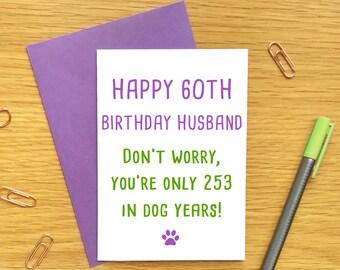 60th Birthday Card For Husband Funny Him