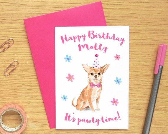 Dog Birthday Card For Dog Lovers Personalised Birthday Card Etsy