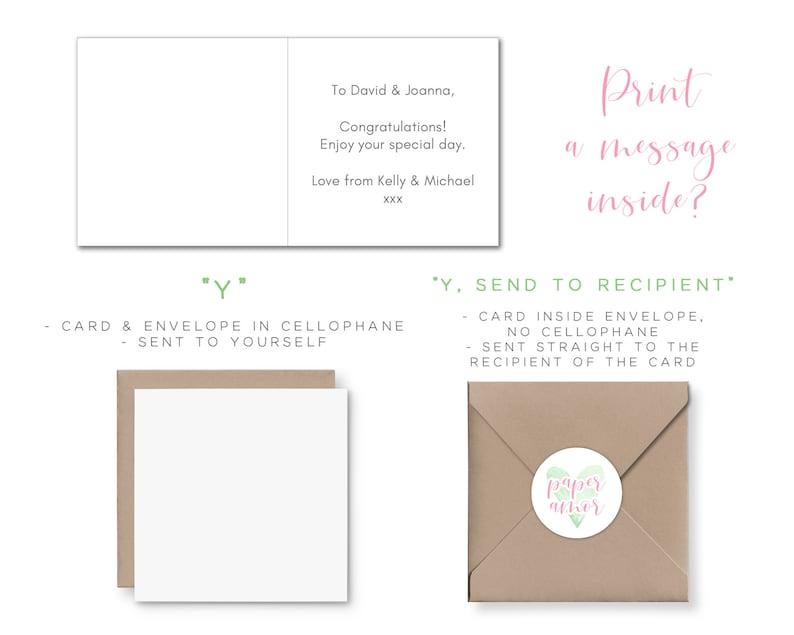 Wedding Day Card for Couple Wedding Card Animal Llama Wedding Card for Bride and Groom Personalized Wedding Card Congratulations
