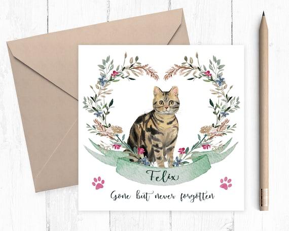 Unique Pet Sympathy Card Greeting Card Unique Card Unique Cat Sympathy Card Unique Greeting Card Pet Sympathy Card Cat Sympathy Card