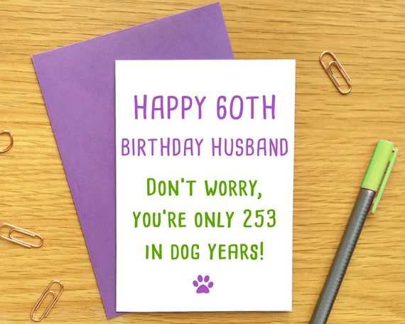 60th Birthday Card For Husband Funny Him