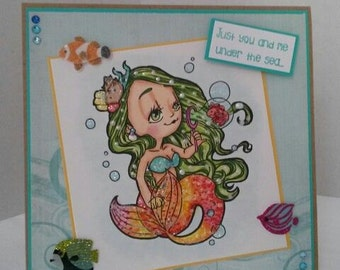 Some Odd Girl Bubble Mermaid Card