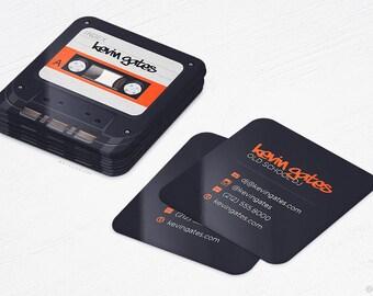 Premier Dj Business Cards Mini Cards Musicrecord Design Etsy