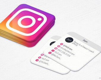 Snapchat cards mini business cards social media rounded etsy mini instgram cards 2016 business cards social media design and printing 250 500 1000 2500 free shipping reheart Image collections