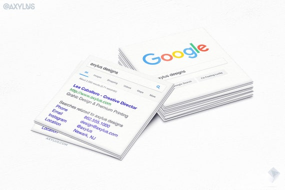 Google business cards square mini cards seo marketing etsy reheart Choice Image