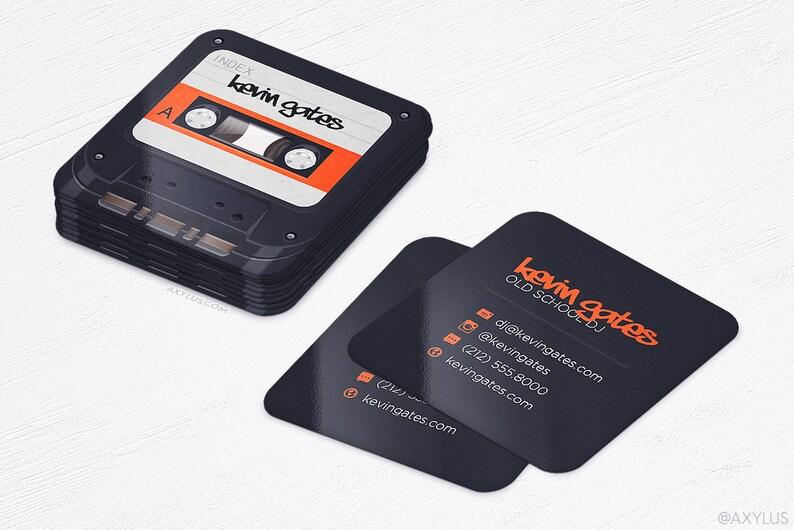 Cassette Ruban Mini Cartes De Visite DJ