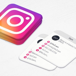 mini instgram cards 2016 business cards social media design and printing 250 500 1000 2500 free shipping - Mini Business Cards