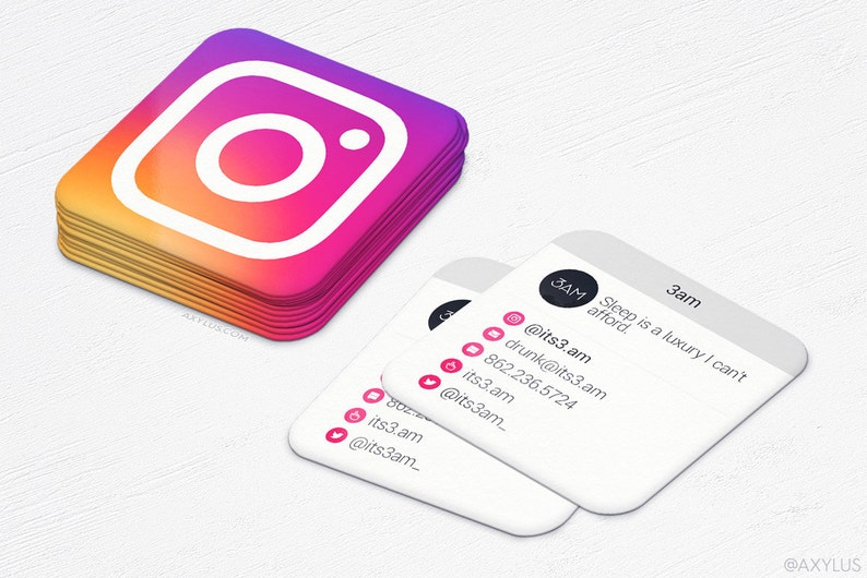 Instgram Mini Cartes 2016 De Visite Medias
