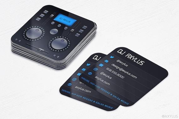 Table De Mixage DJ Cartes Visite Musique Die Cut