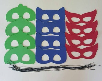 SALE!!!! PJ MASKS - 0.75 Each for 12 or more Un-Assembled Masks - Use for Favors or Crafts Pj Hero Masks, Super Hero Masks, Batman Masks