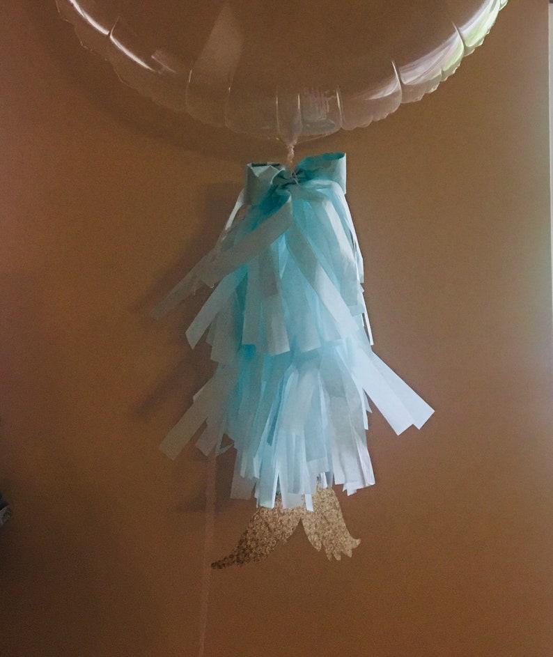 birthday decor tassels Cusrom mermaid tassel balloon tassels party decor