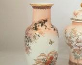 St. Michael Porcelain Chrysanthemum Flowers Butterflies Vase, Made in Japan