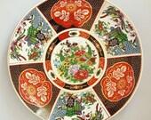 Multicolour Oriental Style Large Porcelain Plate