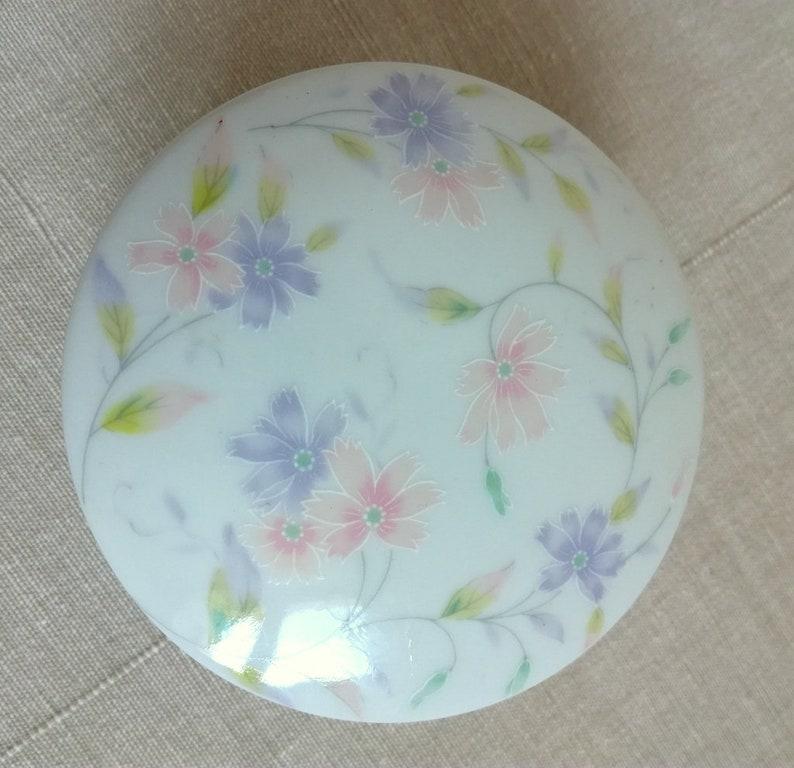 Made in Japan Porcelain Floral Trinket Box