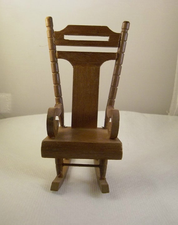 Dollhouse Miniature Antique Look Gloucester Rocking Chair in Black