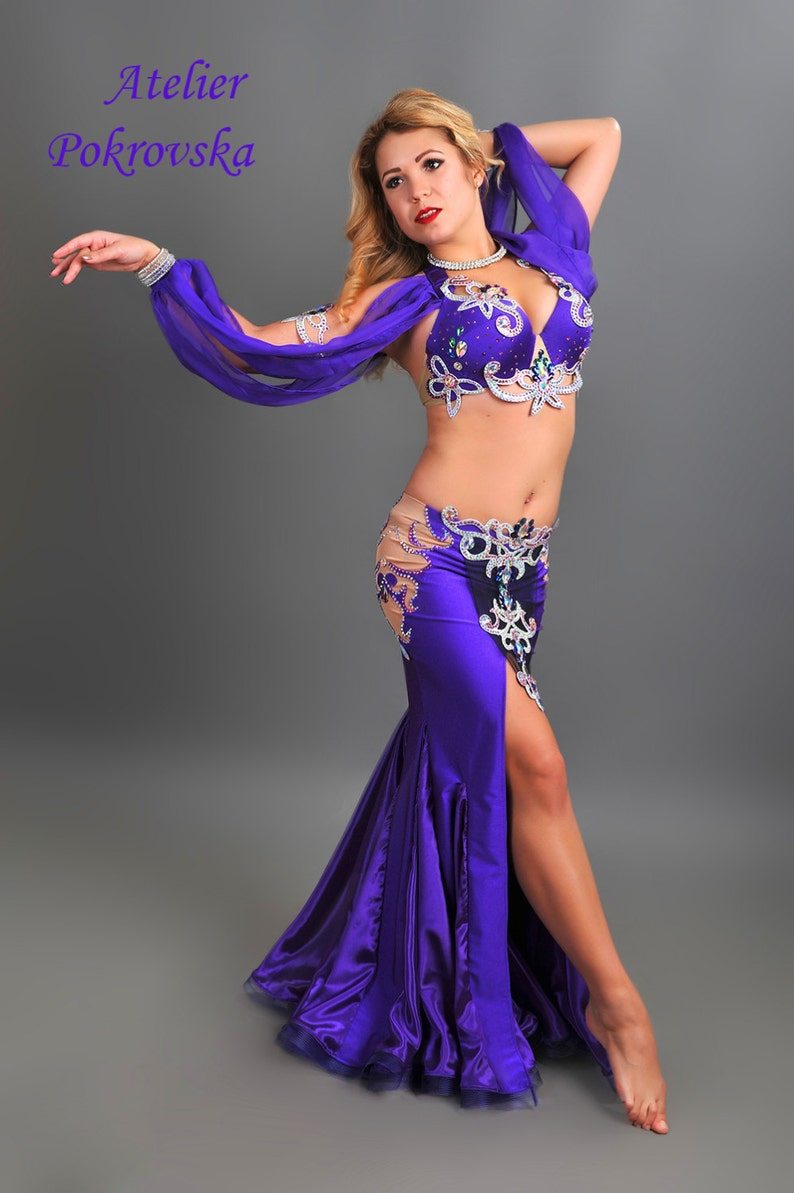 597ec1aeb169 Purple Dream Professional belly dance costume from Atelier | Etsy