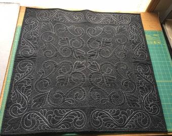 Custom Black and white spread cloth