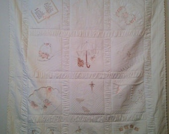 Victorian Heirloom Tone-on-tone quilt