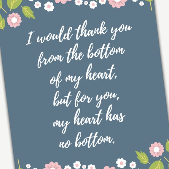 Printable Quote Wall Art, perfect Teacher Appreciation Thank You Gift for  End of the School Year