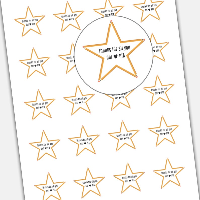 photograph about Teacher Appreciation Printable Tags named Trainer Appreciation Printable Tags: Star themed Workforce Appreciation Reward, trainer reward, faculty present, printable present tags