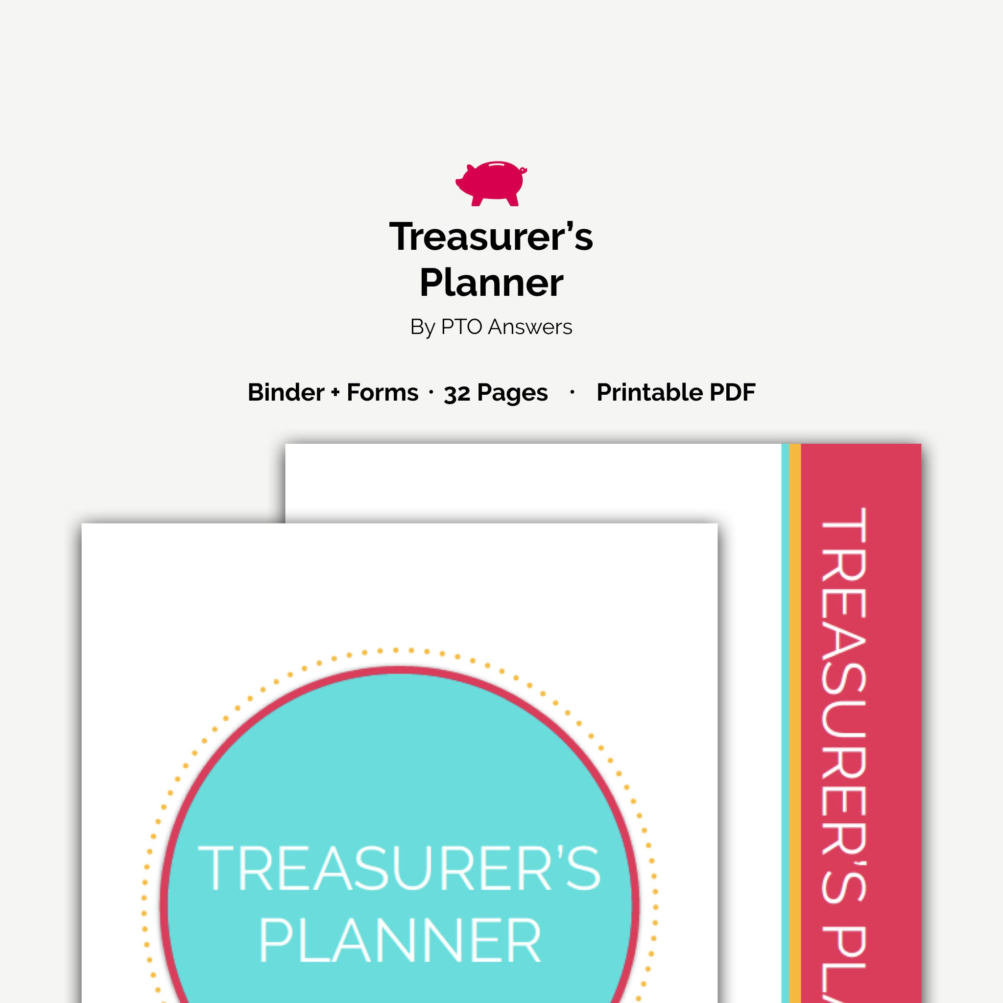 PTA/PTO Treasurer's Planner, Printable Planner with treasurer forms to ease  treasurer duties for complete PTO finance management