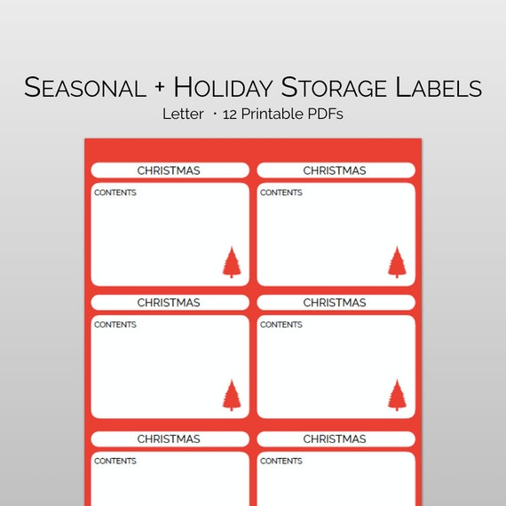 picture about Printable Christmas Labels called Printable Trip Labels + Seasonal Storage Labels for turning out to be prepared: Planning labels for the vacations. Xmas enterprise labels