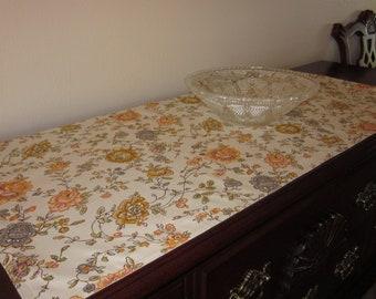 Short Wide Vintage Floral Table Runner