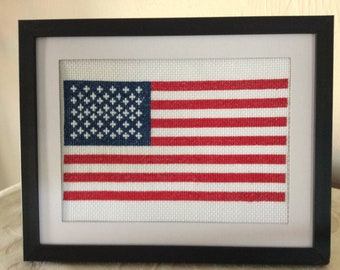 Hand Stitched American Flag