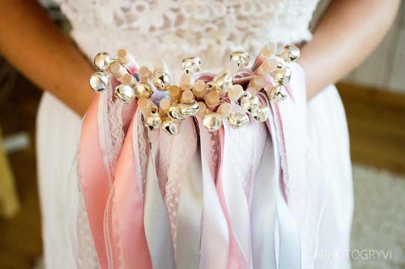 Wedding Wands Hochzeitsstäbe Glücksstäbe mit Glöckchen Bild 1