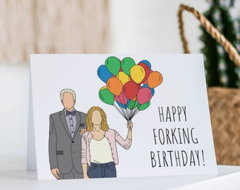 The Good Place Birthday Card- Eleanor Shellstrop, Best Friend Card, Birthday Card, Strike Hard, Funny Birthday Card, Forking Birthday