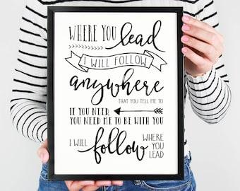 Gilmore Girls Poster- Where You Lead, I Will Follow Lyrics, Theme Song, Carole King, Lorelai Gilmore, Rory Gilmore