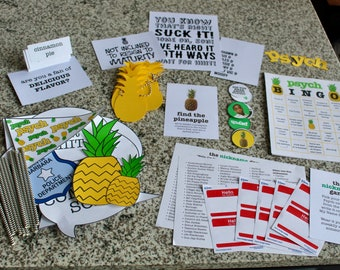 The ULTIMATE Psych Party Pack! Bundled Party Decor and Activities, Psych the Movie, Psych TV Show Party, Shawn and Gus