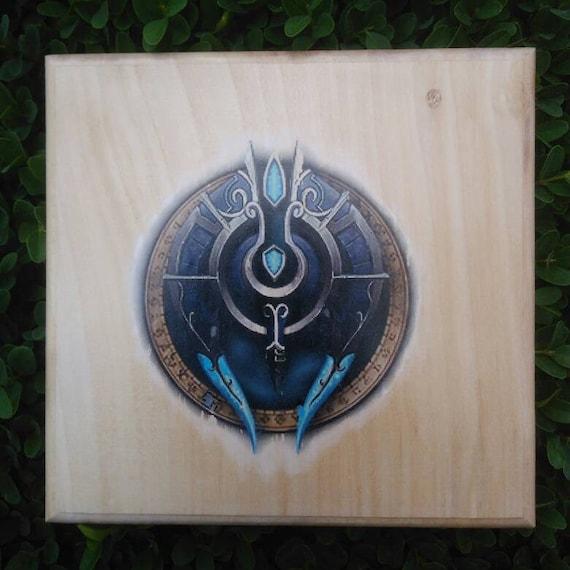 Silber Bund Symbol Aus World Of Warcraft übertragen Auf Holz