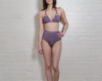 T-Strap Soft Cup Bra/Bralette in Purple- PAST SEASON