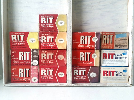 Vintage Rit Dye 13 Packages Of Rit Dye Antique Fabric Dye Etsy