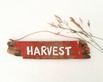 Handmade Harvest Home Decor . Upcycled Wood Wall Sign . Farmhouse Style . Cottage Cabin . Rustic Primitive . Repurposed . Autumn Home Decor