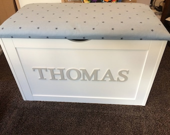 Toy Box, Large Personalised Toy Box, Wooden Toy Box, XL Toy Chest,