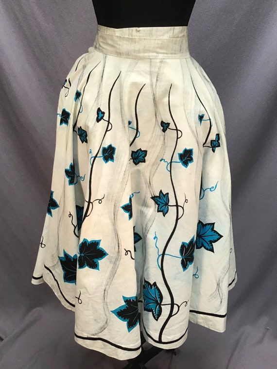 Vintage 50s Lavable Mexican Full Circle Skirt