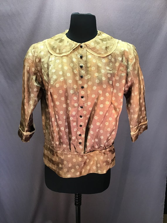 Authentic 1910s Gibson Girl Silk Blouse