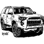 Toy Rocks Toyota 4Runner 4x4 image design Item# GCE-TRVIO4RN13