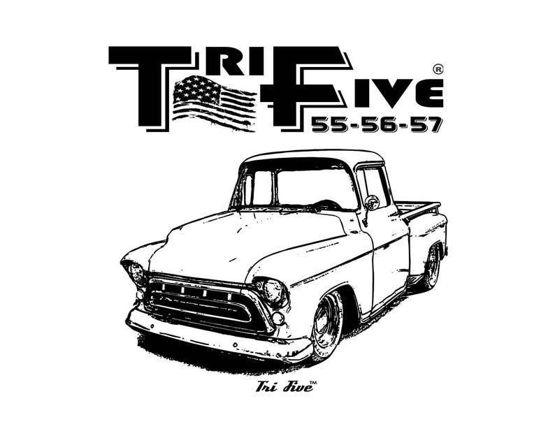 Tri Five American Flag 55 56 57 1957 Chevrolet Truck Design