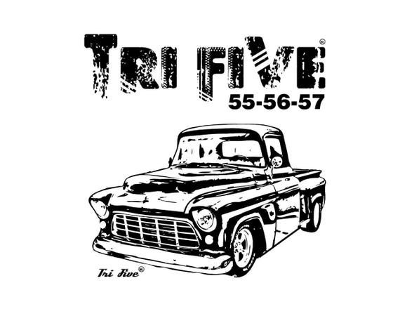 Tri Five 55 56 58 1955 Chevy Truck Design Item