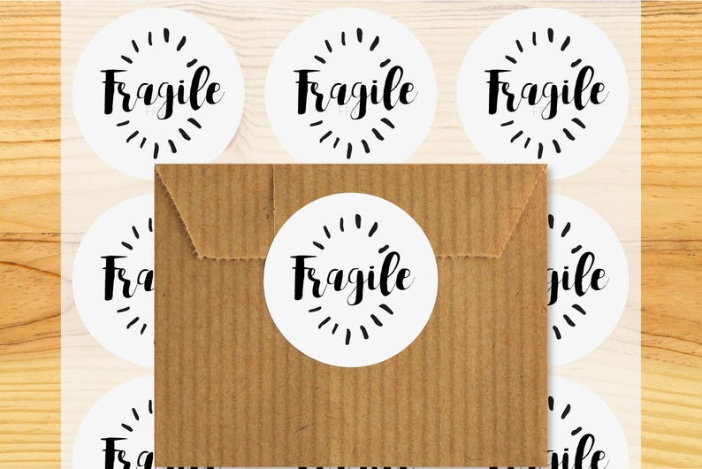 packaging packaging Fragile stickers Set of 48 stickers tags