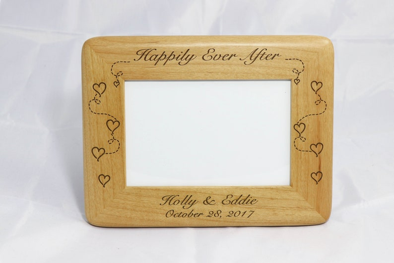 Personalized Photo Frame Engraved Wood Frame Wedding Gift Custom Engraved Frame Personalized Wedding Gift 4x6 Frame