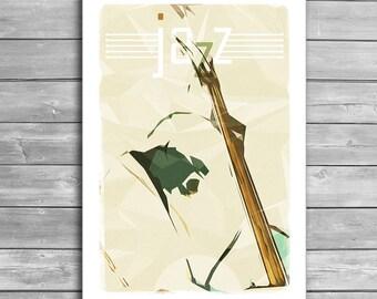 Contrabassist, Jazz Poster, Music Posters, Jazz Prints, Music Print, Jazz, Wall Decor, Art Print, Design Print, Office Decor, Music Gift