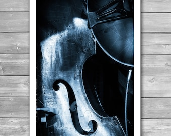 Double bass Poster, Jazz, Jazz Posters, Art Photo, Music Prints, Music Posters, Jazz Prints, Contrabass, Fine Art Photo, Monochrome Print